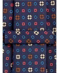 E. Marinella - Mixed Print Five Fold Silk Tie - Lyst