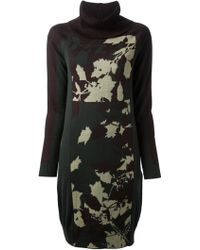Isola Marras - Camouflage Printed Jumper Dress - Lyst