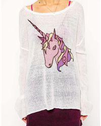 Asos Sweater With Unicorn - Lyst