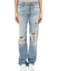 R13 Kurt Distressed Slouch Jeans - Lyst