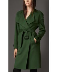 Burberry Cashmere Wrap Trench Coat - Lyst