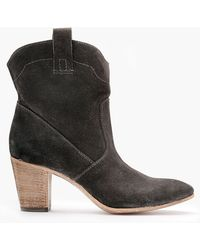 Alberto Fermani Chiara Slouchy Suede Ankle Boot - Lyst
