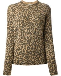 Each x Other Leopard Print Sweater - Lyst