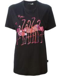 Love Moschino Sparkle Flamingo Print T-Shirt - Lyst