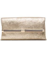 Diane Von Furstenberg Gold Envelope Clutch - Lyst