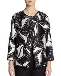 Lafayette 148 New York Venus Printed Wool/Silk Jacket - Lyst
