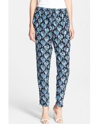 Emilio Pucci Butterfly Print Drawstring Pants - Lyst