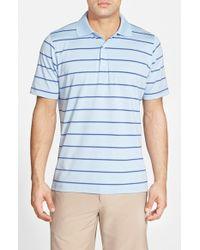 Fairway & Greene 'avondale Stripe' Stretch Jersey Golf Polo - Blue