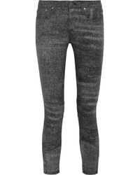 Helmut Lang Printed Mid-Rise Skinny Jeans - Lyst