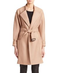 Burberry London Heronsby Wool/Cashmere Wrap Coat - Lyst