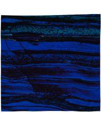 Weston | Blue Tiger Iron Silk Scarf | Lyst