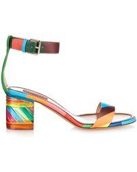 Valentino 1973 Rainbow Plexi-Heel Sandals - Lyst