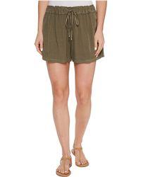 Splendid - Ruffle Waist Shorts - Lyst