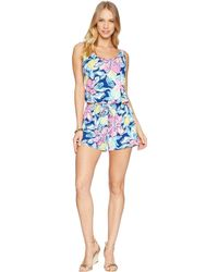 8f660f7f7998 Lyst - Lilly Pulitzer Deanna Short Jumpsuit in Blue