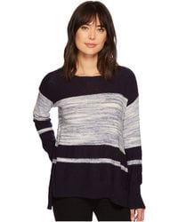 Two By Vince Camuto - Long Sleeve Blocked Space Dye Stripe Sweater - Lyst