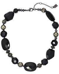 """Lauren by Ralph Lauren - 16"""" Pyrite Beaded Collar Necklace - Lyst"""