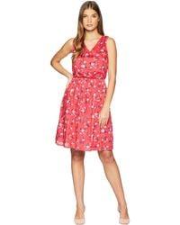 U.S. POLO ASSN. - Floral V-neck Dress - Lyst