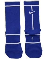 Nike - Court Essentials Crew Tennis Socks (green Abyss/black) Crew Cut Socks Shoes - Lyst