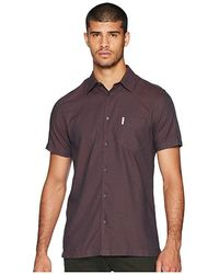 bd1fe6152 Urban Outfitters · Ben Sherman - Short Sleeve Blocked Dobby Shirt (rust)  Short Sleeve Button Up -