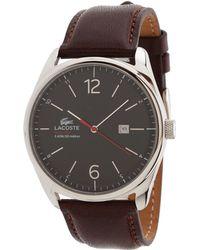Lacoste - 2010682 Austin Leather Strap Watch - Lyst