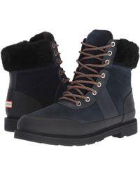 ca914c0f87c13 Lyst - HUNTER Women S Original Canvas Commando Boots in Black