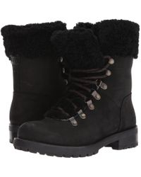 18ab6a5991e4 Lyst - UGG Ugg Fraser Genuine Shearling Water-resistant Boot in Black