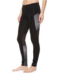 adidas - D2m Shine Stripe Long Tights - Lyst
