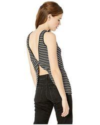 f77db33012c Bebe - Knot Back Tank (aimee Stripe) Clothing - Lyst