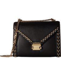 Lyst - MICHAEL Michael Kors Lupita Large Leather Hobo Bag in Black d9125f38c7