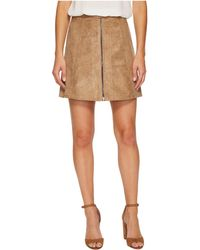 Bishop + Young - Suede Zip-up A-line Skirt - Lyst