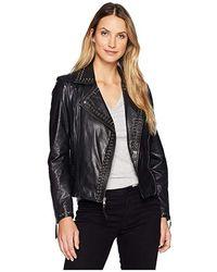 Scully - Rachelle Studded Ladies Saturday Night Ladies Leather Jacket (black) Coat - Lyst