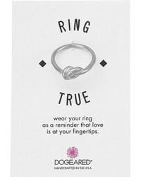Dogeared | Large Love Knot Ring | Lyst