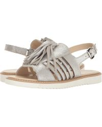 5a4a924266ae Lyst - Tory Burch Melody Ankle Strap Sandals in Metallic