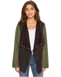 Jack BB Dakota - Lakani Cotton Twill Jacket With Contrast Drapey Knit Front - Lyst