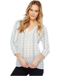 Dylan By True Grit - Prarie Pintuck Embroidery Blouse - Lyst