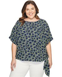 MICHAEL Michael Kors - Plus Size Hayden Side Tie Top - Lyst