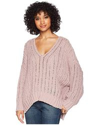 Free People - Infinite V-neck Top (lavender) Clothing - Lyst