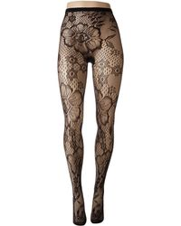 Hue - Blooming Net Tights - Lyst
