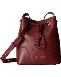 Lyst - MICHAEL Michael Kors Pebbled Leather Cary Bucket Shoulder Bag ... ed89a8234e307