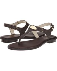 adeeac717f80 Lyst - MICHAEL Michael Kors Mk Plate Thong Sandals in Metallic