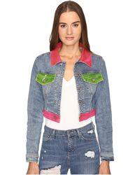 Jeremy Scott - Multi Clear Denim Jacket - Lyst