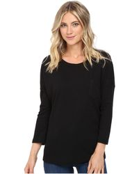 Culture Phit - Alana 3/4 Sleeve Waffle Top With Pocket - Lyst