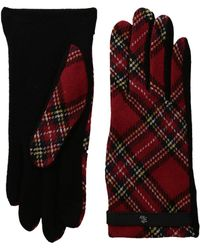 Lauren by Ralph Lauren - Tartan Rll Monogram Touch Glove - Lyst