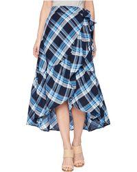 Lauren by Ralph Lauren - Plaid Ruffled Skirt - Lyst