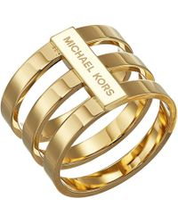 Michael Kors - Tri Stack Open Pave Bar - Lyst
