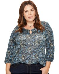 Lucky Brand - Plus Size Floral Ruffle Top - Lyst