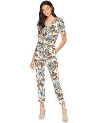 fdb5995cc0f Juicy Couture - Ornate Floral Paisley Silk Jumpsuit - Lyst