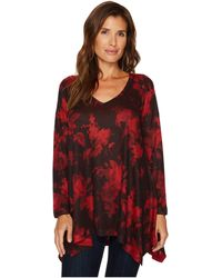 Nally & Millie - Red Print Tunic - Lyst