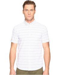 Jack Spade - Short Sleeve Horizontal Variated Stripe Button Down - Lyst