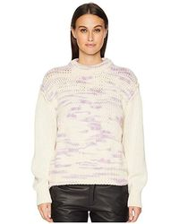 08dd0840373c25 See By Chloé - Space Dye Sweater (multicolor White) Sweater - Lyst